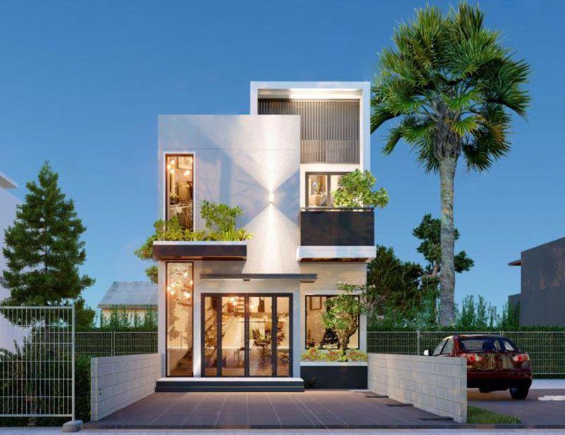Mẫu thiết kế đẹp nhà 2 tầng 6x15m